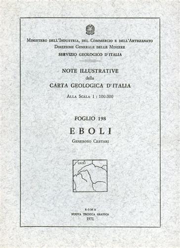 -- - Note illustrative della Carta Geologica d'Italia F°198. Eboli.