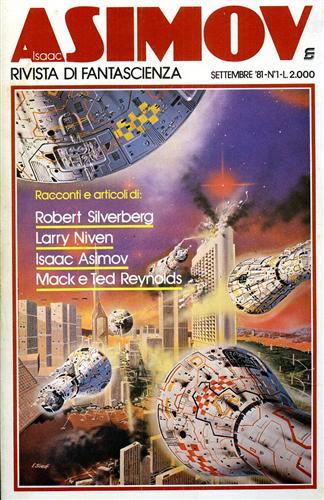 Isaac Asimov. Rivista di Fantascienza. settembre 1981 vol 1