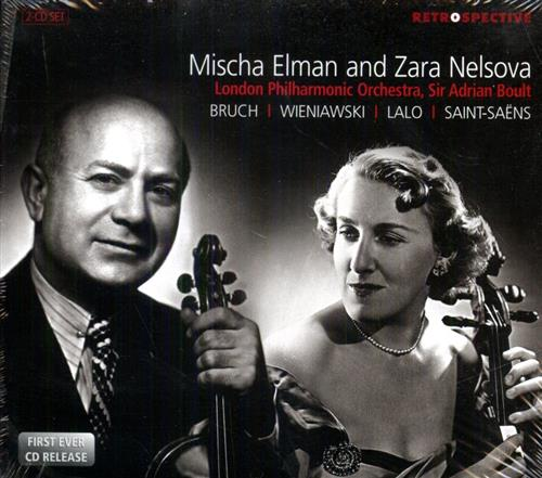 BRUCH. WIENIAWSKI. LALO. SAINT-SAENS. - Violin & Cello Concertos. Mischa Elman - violin Zara Ne