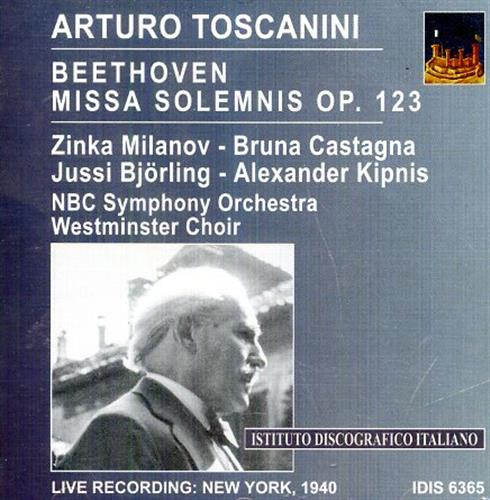 <b>Toscanini,Arturo.</b><br/><br/>Arturo Toscanini Conducts Beethoven. Missa Solemnis op. 123.