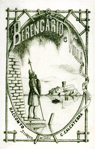 CALCATERRA,CARLO. (RACCONTO STORICO DI). - Berengario e Villa nell'Isola di S.Giulio.