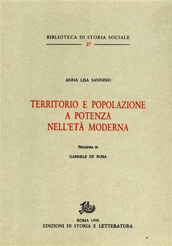 Territorio e popolazione a potenza nell 39 et moderna for Biblioteca di storia moderna e contemporanea