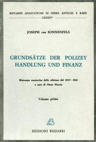 Grundsaetze der Polizey handlung und finanz.