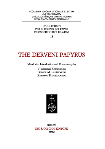 KOUREMENOS,THEOKRITOS. PARÁSSOGLOU,GEORGE M. TSANTSANOGLOU,KYRIAKOS. - The Derveni Papyrus. Edited with Introduction and Commentary.