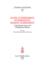 9788822261618-Good Government, Governance and Human Complexity. Luigi Einaudi's legacy and con