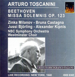 Toscanini,Arturo. - Arturo Toscanini Conducts Beethoven. Missa Solemnis op. 123.