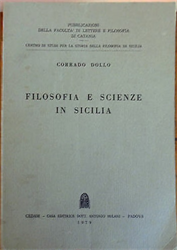 Dollo,Corrado. - Filofofia e scienze in Sicilia.