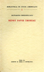 Tedeschini Lalli,B. - Henry David Thoreau.