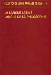 Actes du Colloque: - La langue latine langue de la philosophie.