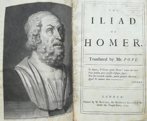 Homer. Pope, Alexander. - The Iliad of Homer translated by Alexander Pope. Vol. I-VI.
