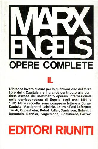 Marx,Karl.-Engels,Friedrich. - Opere complete IL: Lettere gennaio 1891- dicembre 1892.